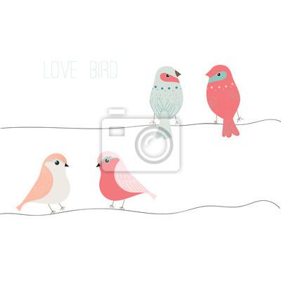 Liebe Vogel Vogel Vektor Set Vogel Vektor Sammlung Vektor Vorlage