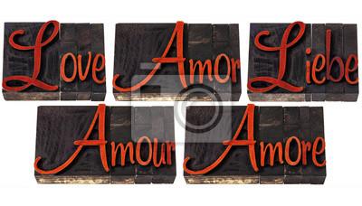 Liebe Wort in 5 Sprachen