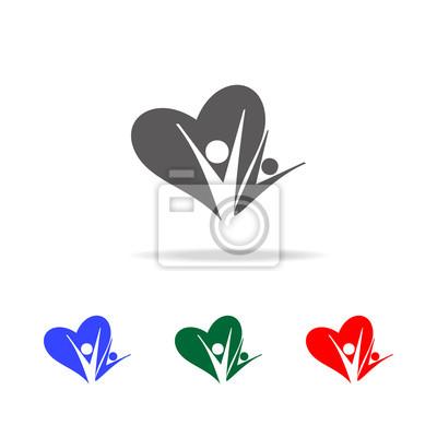 Herz symbol mit app Conference Call