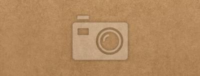 Fototapete Light brown kraft paper texture banner background