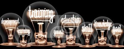 Fototapete Light Bulbs Concept
