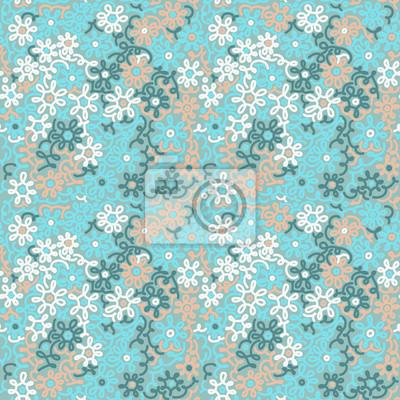 Light floral chamomile retro vintage seamless pattern.