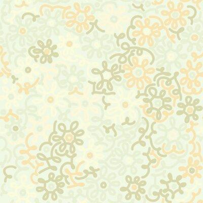 Fototapete Light floral Kamille retro Jahrgang nahtlose Muster. Vorlage