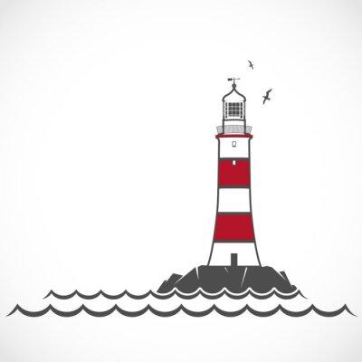 Fototapete Lighthouse icon.