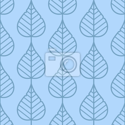Lila Blätter Nahtlose Vektor Muster Weinleseart Und Farben