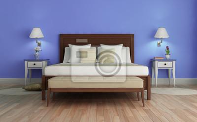 Frisch Schlafzimmer Lila ~ Lila klassische frisch luxus schlafzimmer mit holzfußboden