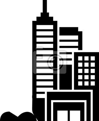 line art - design gebäude für clip art oder ikone