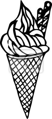 Line art - Eis für Ikone