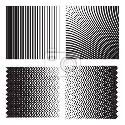 Line halbton (gradient) effekte. vorlagen für hintergründe und ...