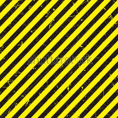 Fototapete Linie gelbe und schwarze Farbe mit Textur.