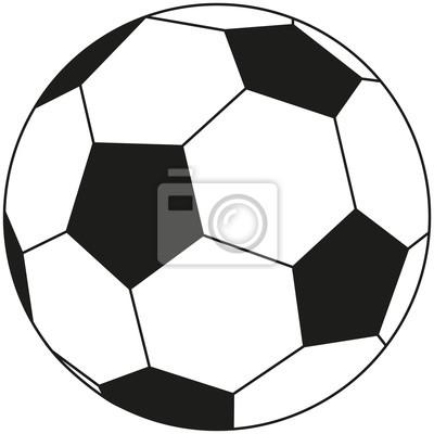 Linie Kunst Schwarz Weiss Fussball Symbol Fototapete