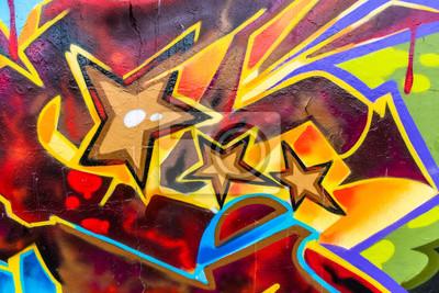 Graffiti Farben.Fototapete Linien Und Farben Graffiti