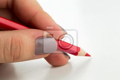 Linke Hand schriftlich mit Rotstift