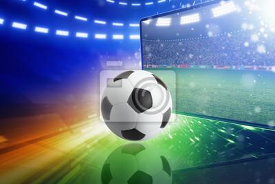 Live-Fernsehsendung des Fußballspiels