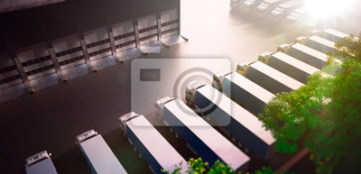 Lkw-Parkplätze. Fracht