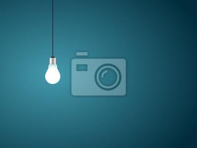 Fototapete Llightbulb als Symbol der Idee. Vektor-Illustration.