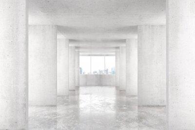 Fototapete Loft-Stil-Tunnel mit vielen Wänden in leichten leeren Gebäude mit b