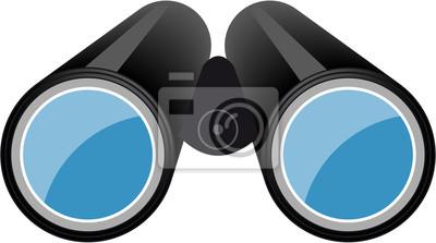 Logo icon symbol für fernglas oder feldstecher fototapete