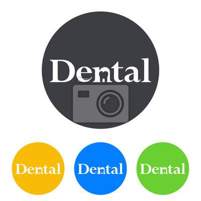 Logotipo Dental Con Muela En Espacio Negativo En Circulo Varios