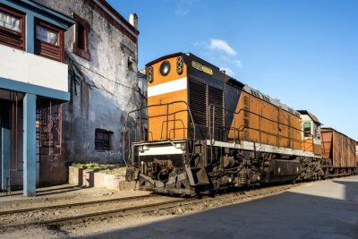 Fototapete Lokomotive im Bahnhof von Camagüey Kuba