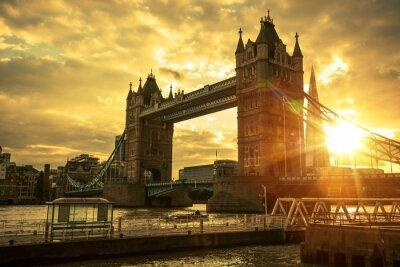 Fototapete London-Aufsatz-Brücke