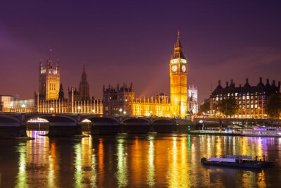 Fototapete London bei Nacht
