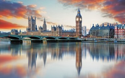 Fototapete London - Big ben and houses of parliament, UK