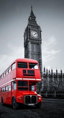 Fototapete London-Bus und Big Ben