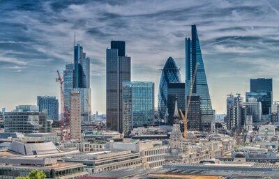Fototapete London City. Moderne Skyline der Geschäftsviertel