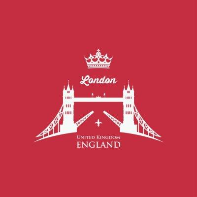 Fototapete London-Kontrollturm-Brücke
