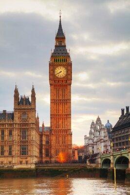 Fototapete London mit dem Uhrturm und Houses of Parliament