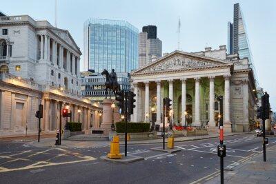 Fototapete London Royal Exchange, Einkaufszentrum und Bank of England