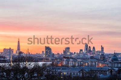 Fototapete London-Skyline bei Sonnenuntergang, England, Vereinigtes Königreich