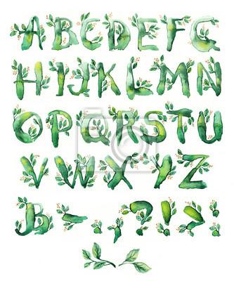Fototapete Lorbeerblatt, von Briefen