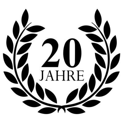 Fototapete: Lorbeerkranz. 20 jahre jubiläum