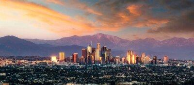 Fototapete Los Angeles skyline in California