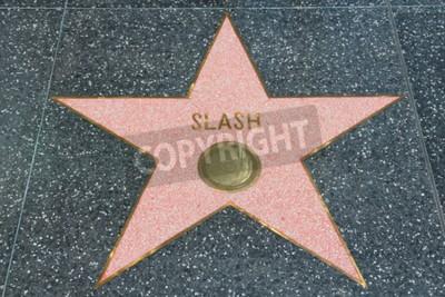 Fototapete LOS ANGELES, USA - APRIL 5, 2014: Slash (Guns N 'Roses Gitarrist) Star auf dem berühmten Walk of Fame in Hollywood. Hollywood Walk of Fame bietet mehr als 2.500 Sterne mit eingeschriebenen Promi-Namen