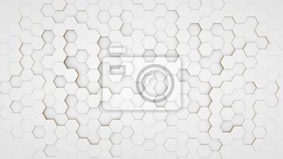 Fototapete Löschen Sie Musterzusammenfassungshintergrund-Hexagonweiß