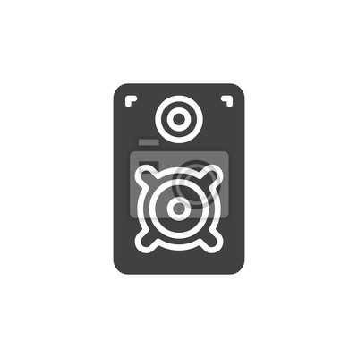 Loud-lautsprecher-symbol vektor, gefüllt flache zeichen, solide ...