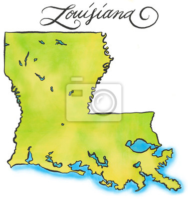 Louisiana Karte