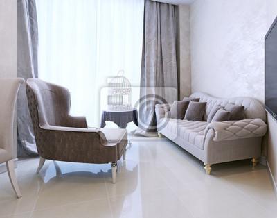 Lounge bereich art deco stil fototapete u fototapeten kitchen