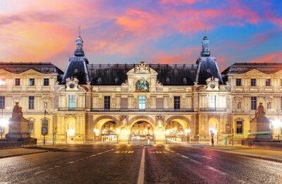 Fototapete  Louvre Museum in Paris at sunrise, France