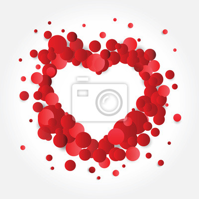 Love Infographic circle banners background set 3