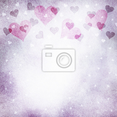 Lovely grunge helle lila farbe valentinstag herzen illustration ...