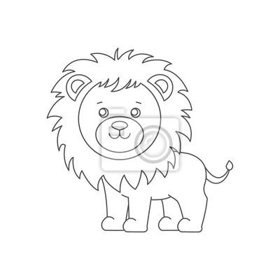 Löwe Zum Ausmalen Buch Fototapete Fototapeten Färbung Druckbare