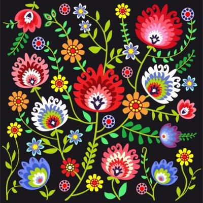 Fototapete ludowy wzór kwiatowy