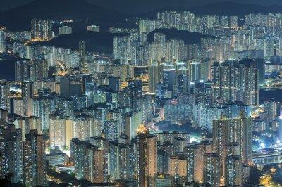 Fototapete Luftaufnahme der Stadt Hong Kong