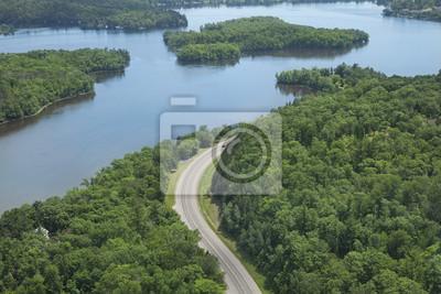 Luftaufnahme des Mississippi River im nördlichen Minnesota