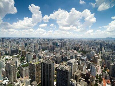 Fototapete Luftaufnahme von Anhangabau Tal, Sao Paulo, Brasilien