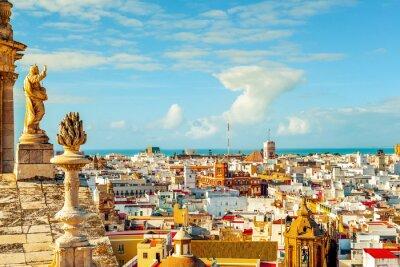 Fototapete Luftaufnahme von Cadiz, Spanien